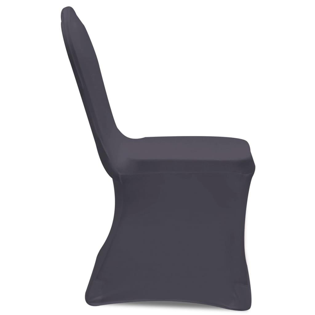 acheter vidaxl housse de chaise extensible 4 pcs anthracite pas cher. Black Bedroom Furniture Sets. Home Design Ideas