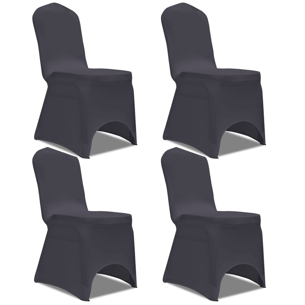 acheter vidaxl housse de chaise extensible 4 pcs. Black Bedroom Furniture Sets. Home Design Ideas