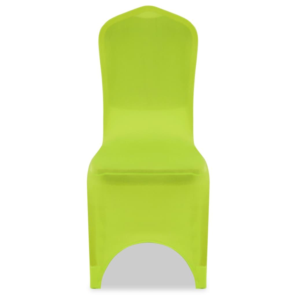 Acheter vidaxl housse de chaise extensible 4 pcs vert pas - Housse de chaise extensible pas cher ...