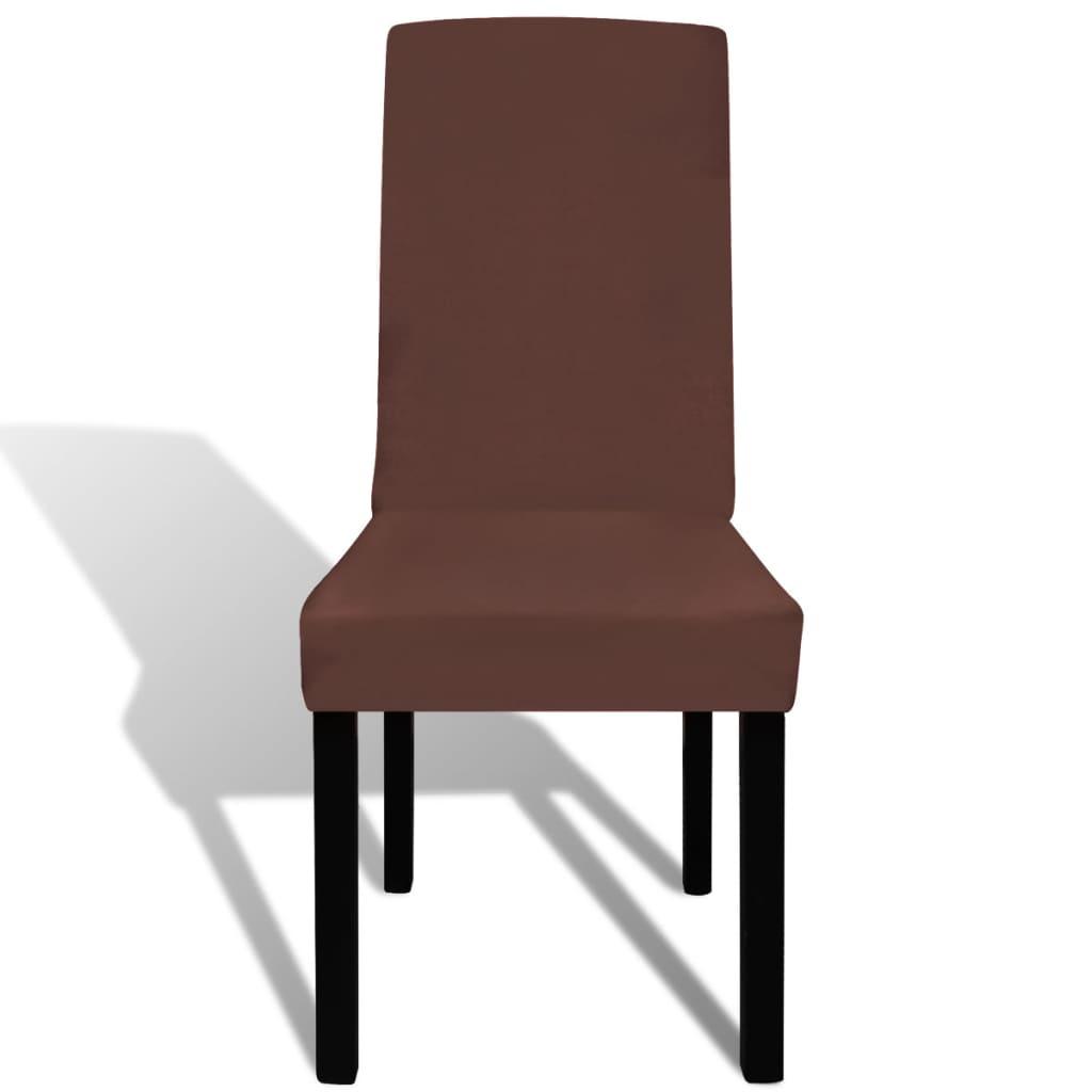 Acheter vidaxl housse de chaise droite extensible 6 pcs for Housse de chaise extensible