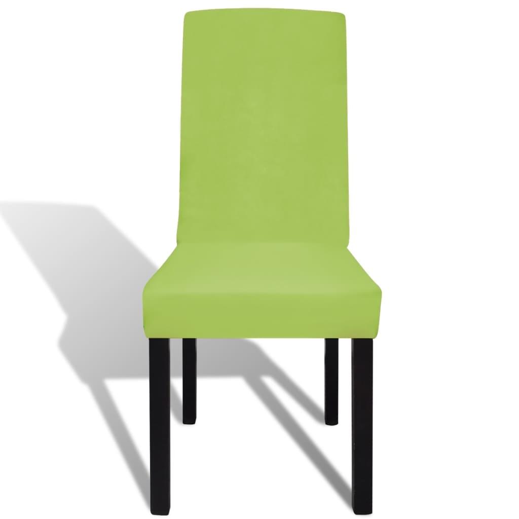 Acheter vidaxl housse de chaise droite extensible 6 pcs - Housse de chaise extensible ...