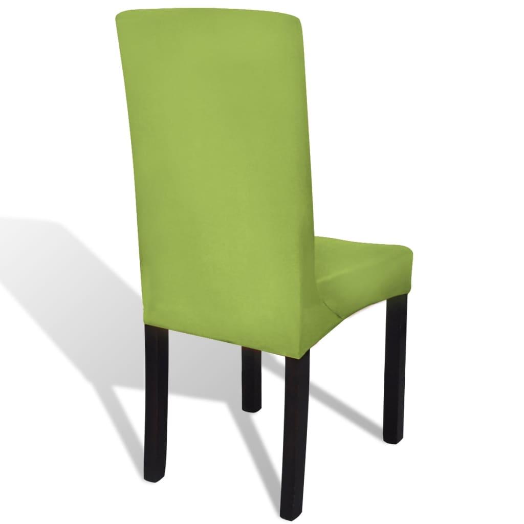 Vidaxl funda para silla el stica recta 6 unidades verde - Fundas elasticas para sillas ...