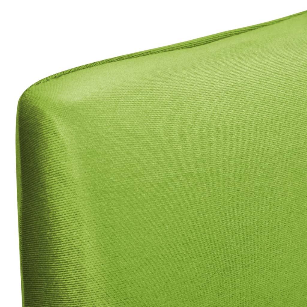 acheter vidaxl housse de chaise droite extensible 6 pcs vert pas cher. Black Bedroom Furniture Sets. Home Design Ideas