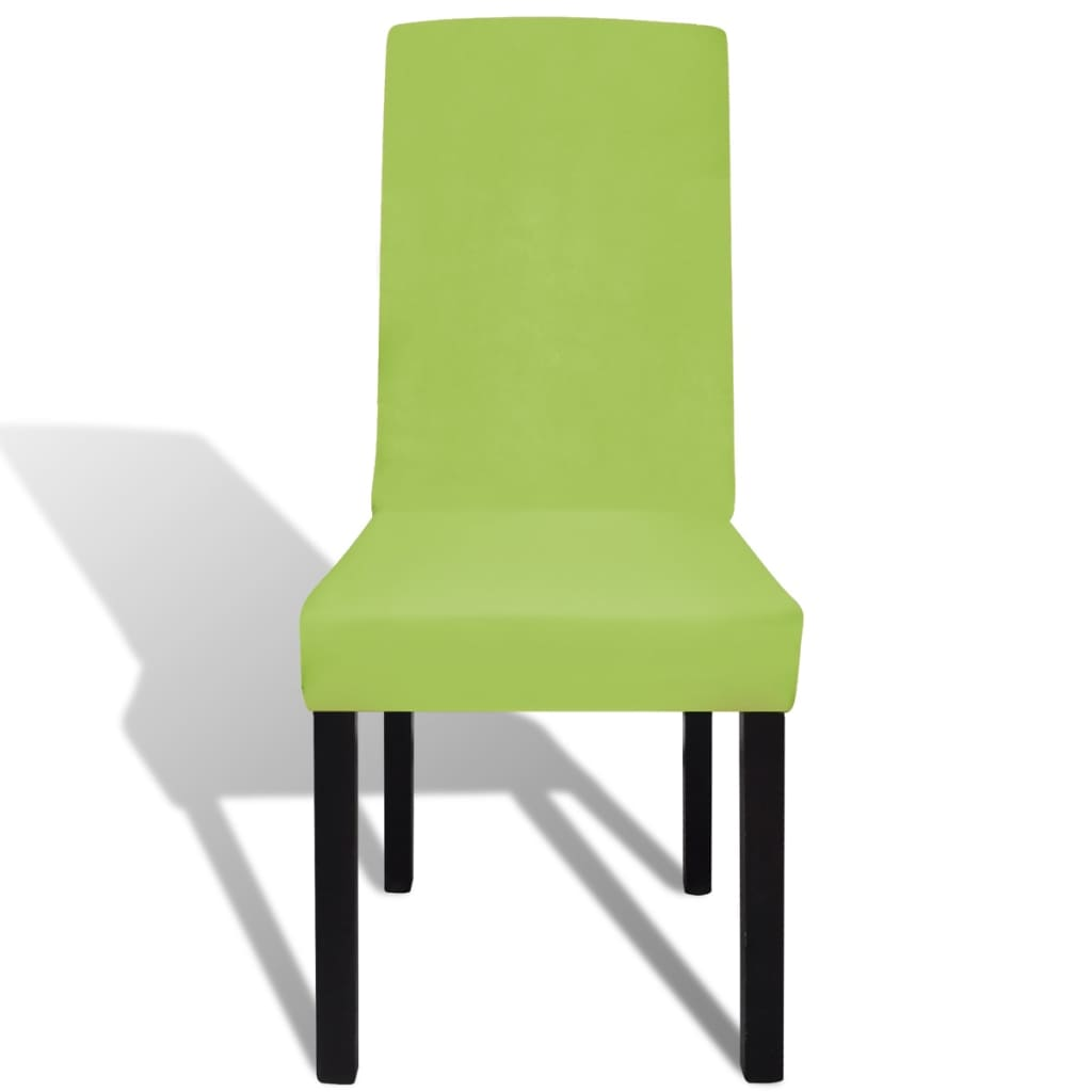 acheter vidaxl housse de chaise droite extensible 4 pcs. Black Bedroom Furniture Sets. Home Design Ideas