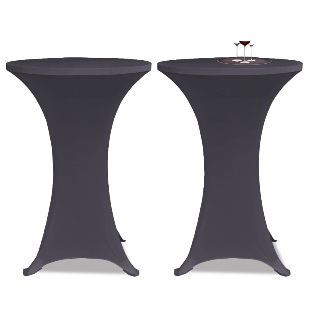 vidaXL 2 db nyújtható asztalterítő 60 cm Antracit