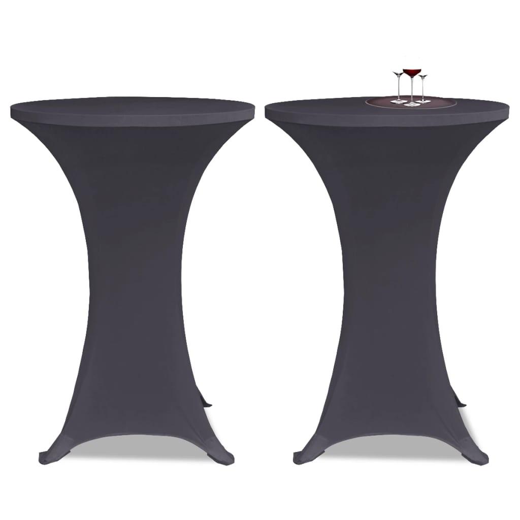 Acheter vidaxl housse de table extensible 2 pcs 70 cm for Table 70 cm de large