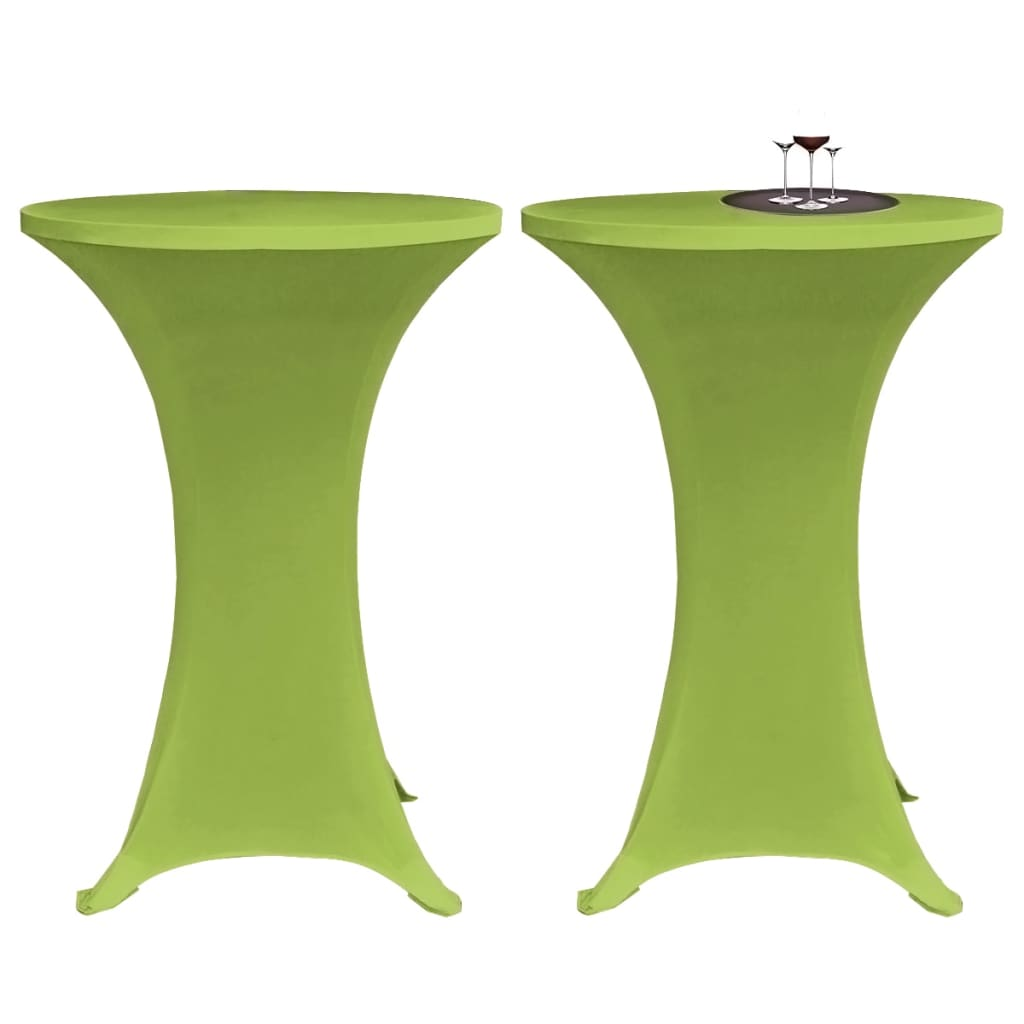 vidaXL 2 db 70 cm zöld nyújtható asztalterítő