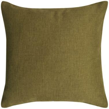 vidaxl kissenbez ge 4 stk leinenoptik gr n 50x50 cm g nstig kaufen. Black Bedroom Furniture Sets. Home Design Ideas