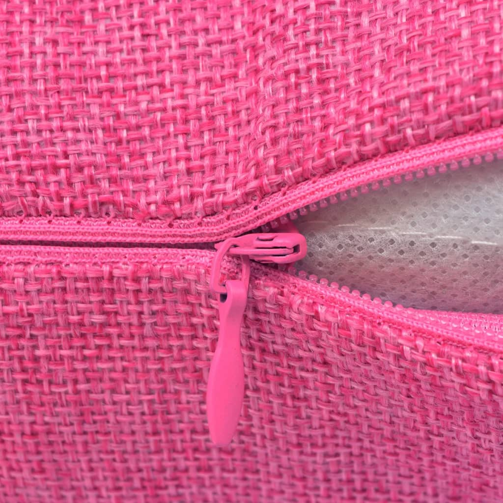 der vidaxl kissenbez ge 4 stk leinenoptik rosa 50x50 cm. Black Bedroom Furniture Sets. Home Design Ideas