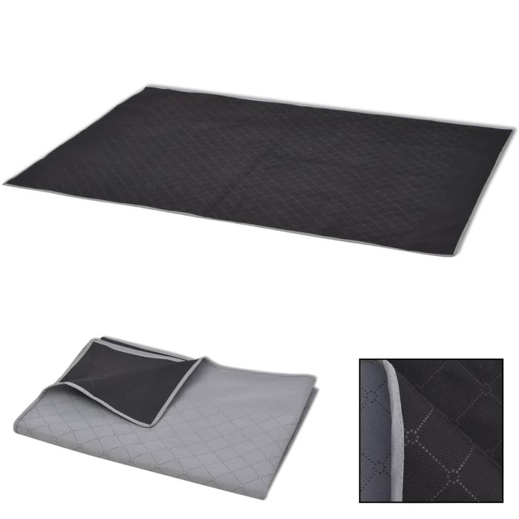 vidaXL piknik takaró 100x150 cm szürke és fekete
