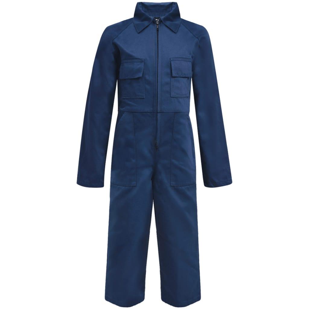 Afbeelding van vidaXL Kinderoverall met mouwen maat 110/116 blauw