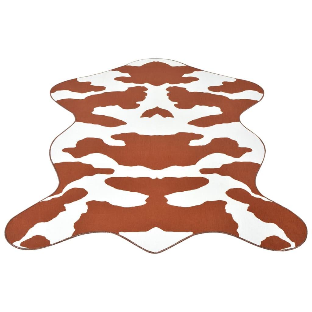 vidaXL Formázott, barna, tehénbőr mintázatú szőnyeg 150*220 cm
