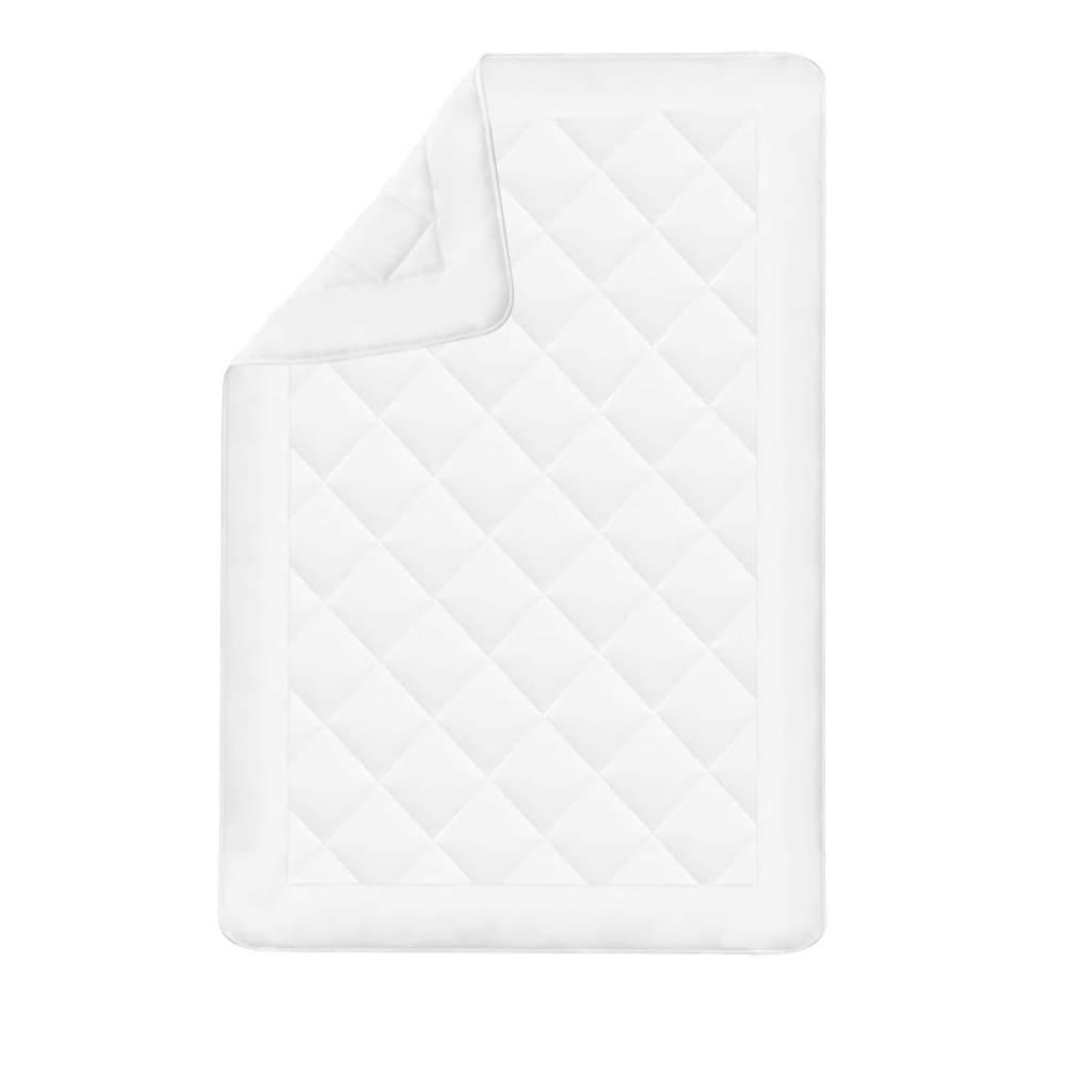 acheter vidaxl couette dredon d 39 hiver toutes saisons 135 x 200 cm blanc pas cher. Black Bedroom Furniture Sets. Home Design Ideas