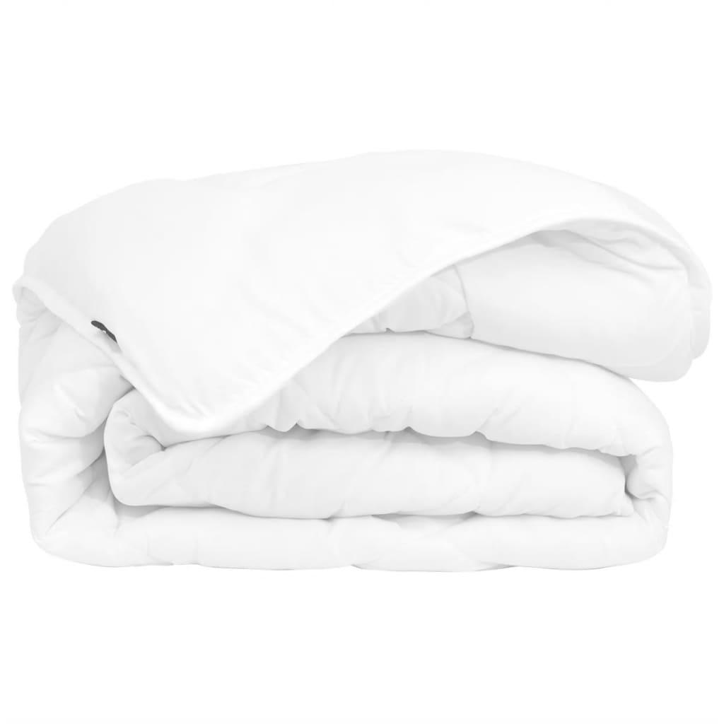 acheter vidaxl couette courtepointe d 39 hiver toutes saisons 140 x 200 cm blanc pas cher. Black Bedroom Furniture Sets. Home Design Ideas