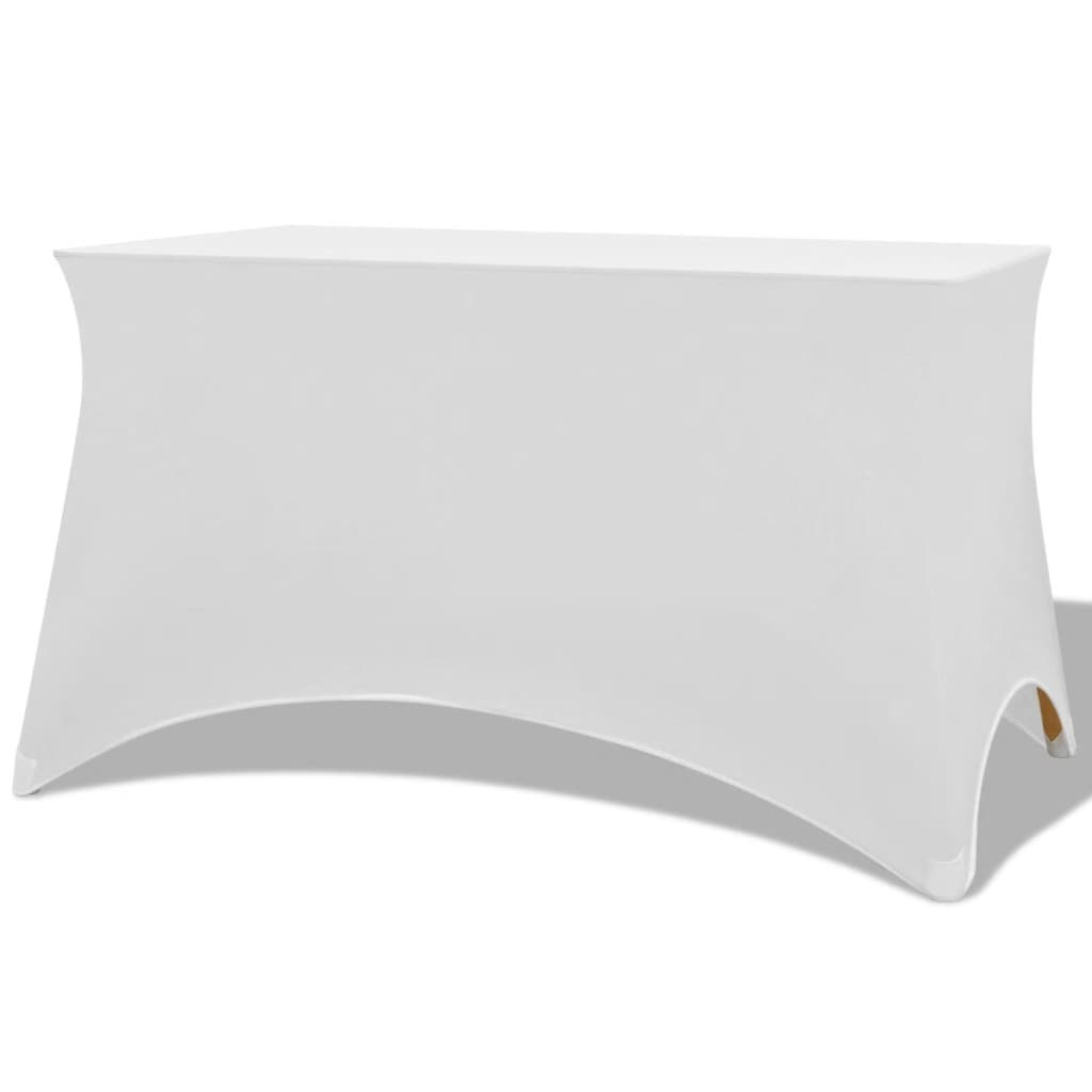 vidaXL Sztreccs asztal védőhuzat 2 db 183x76x74 cm fehér
