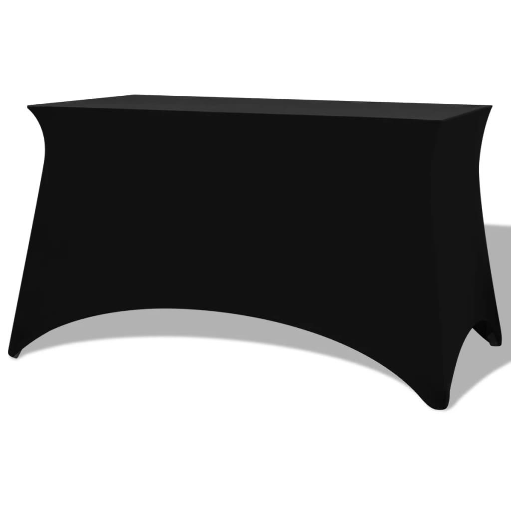 vidaXL Sztreccs asztal védőhuzat 2 db 120x60,5x74 cm fekete