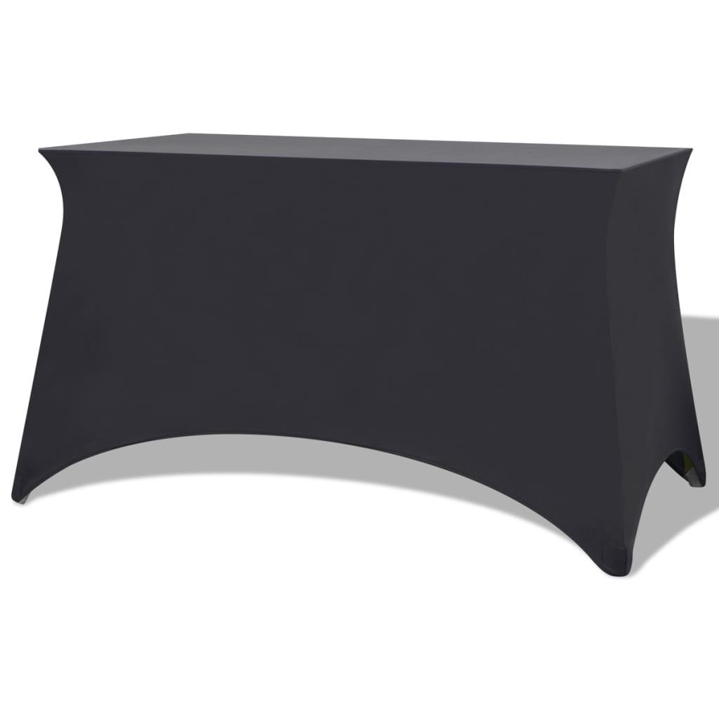 vidaXL Sztreccs asztal védőhuzat 2 db 120x60,5x74 cm antracit