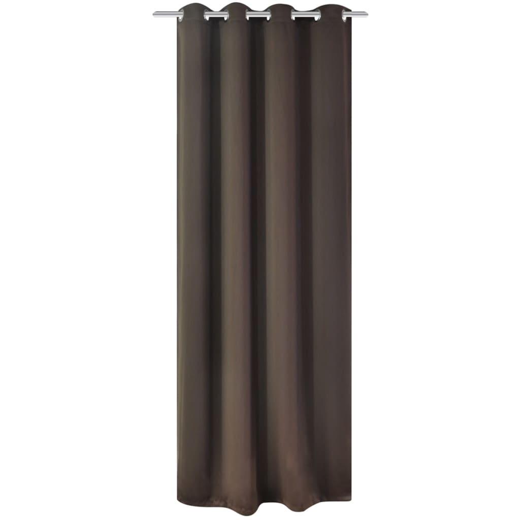 vidaXL barna sötétítőfüggöny fém függönykarikákkal 270 x 245 cm