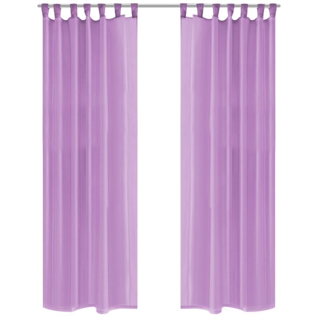 vidaXL 2 db lila voile függöny 140 x 225 cm