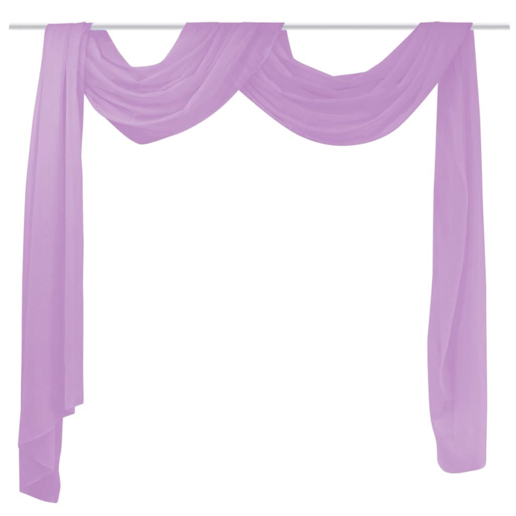 vidaXL lila voile drapéria 140 x 600 cm