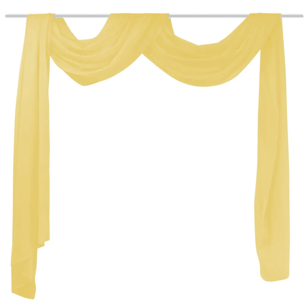 vidaXL sárga voile drapéria 140 x 600 cm