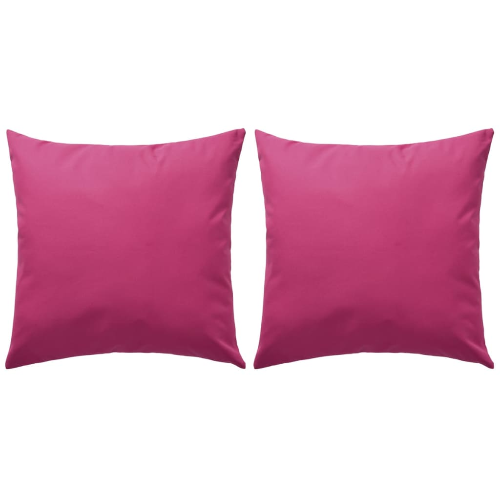 vidaXL 2 db rózsaszín kültéri párna 45 x cm