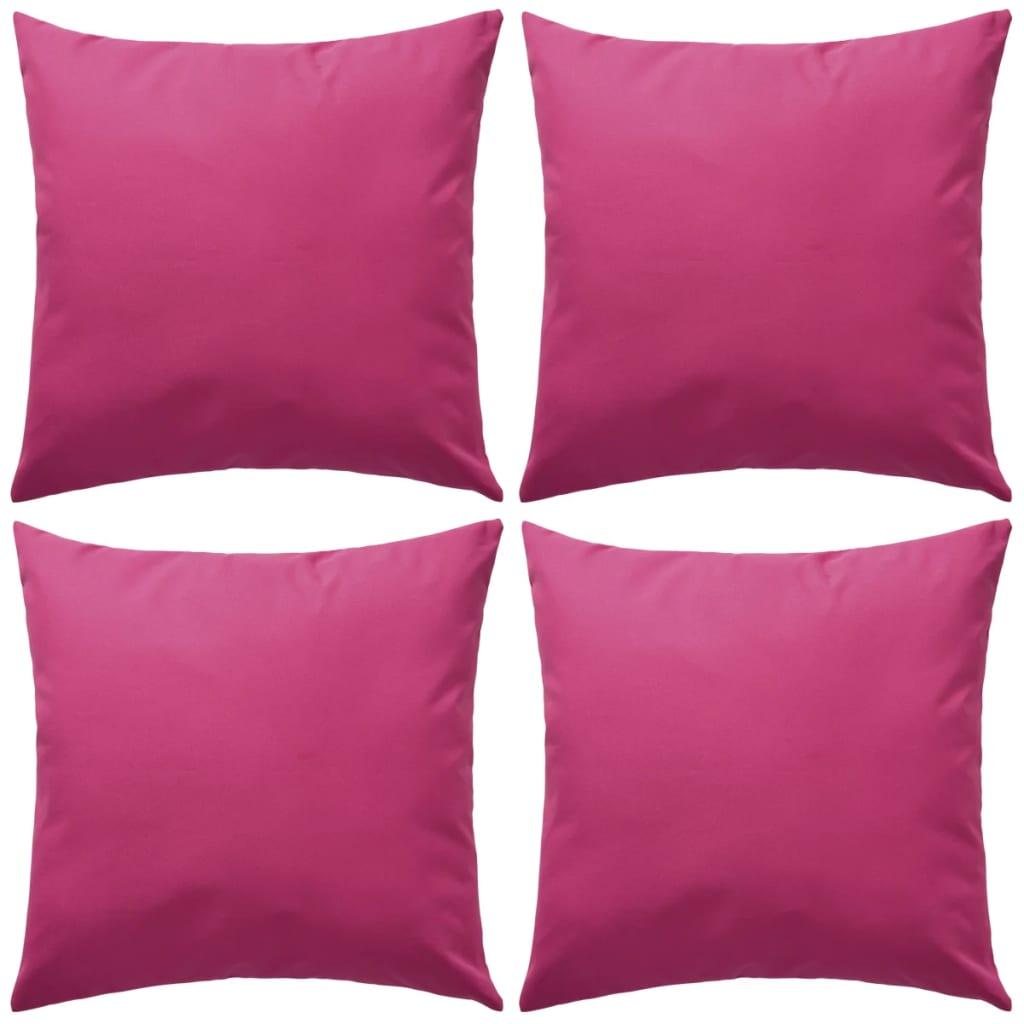 vidaXL 4 db rózsaszín kültéri párna 45 x cm