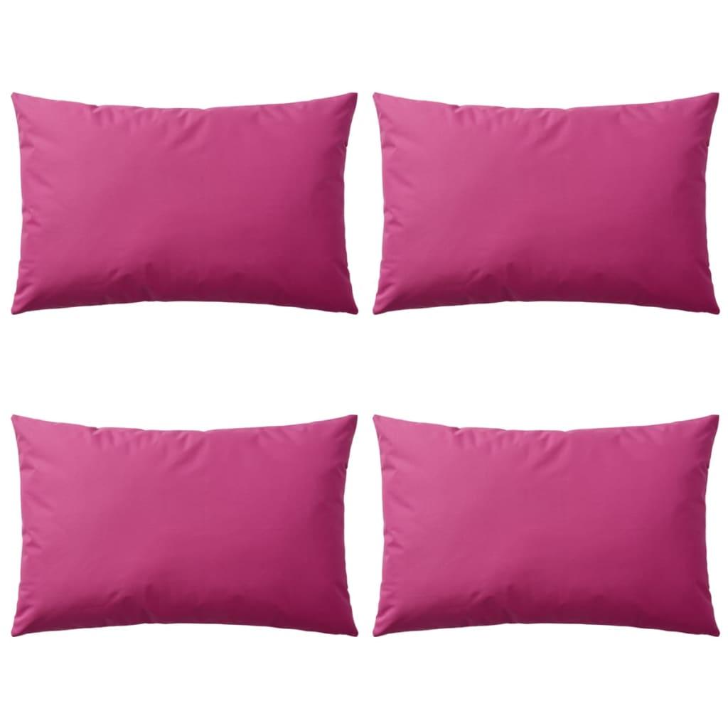 vidaXL 4 db rózsaszín kültéri párna 60 x 40 cm