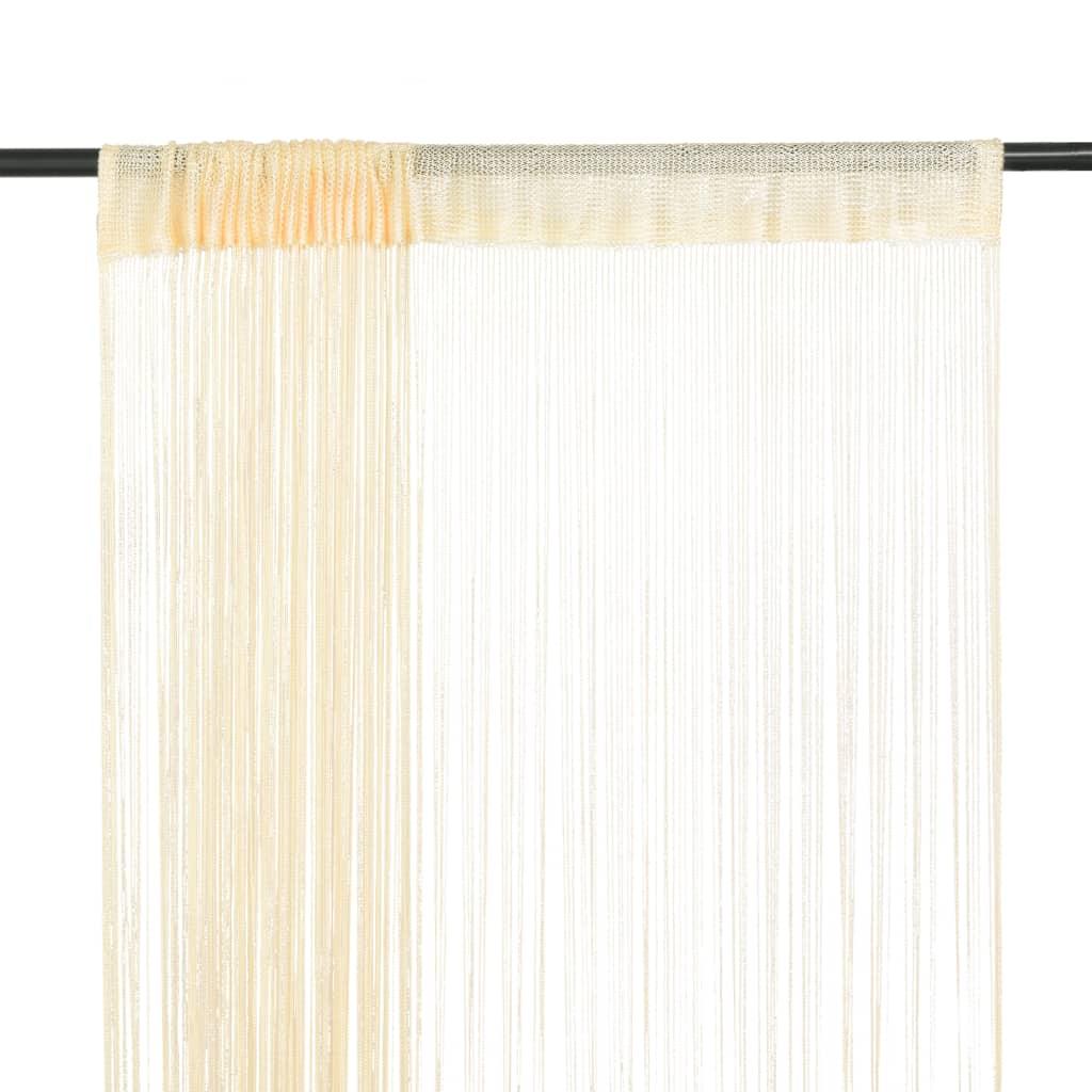 vidaXL 2 db krémszínű zsinórfüggöny 140 x 250 cm