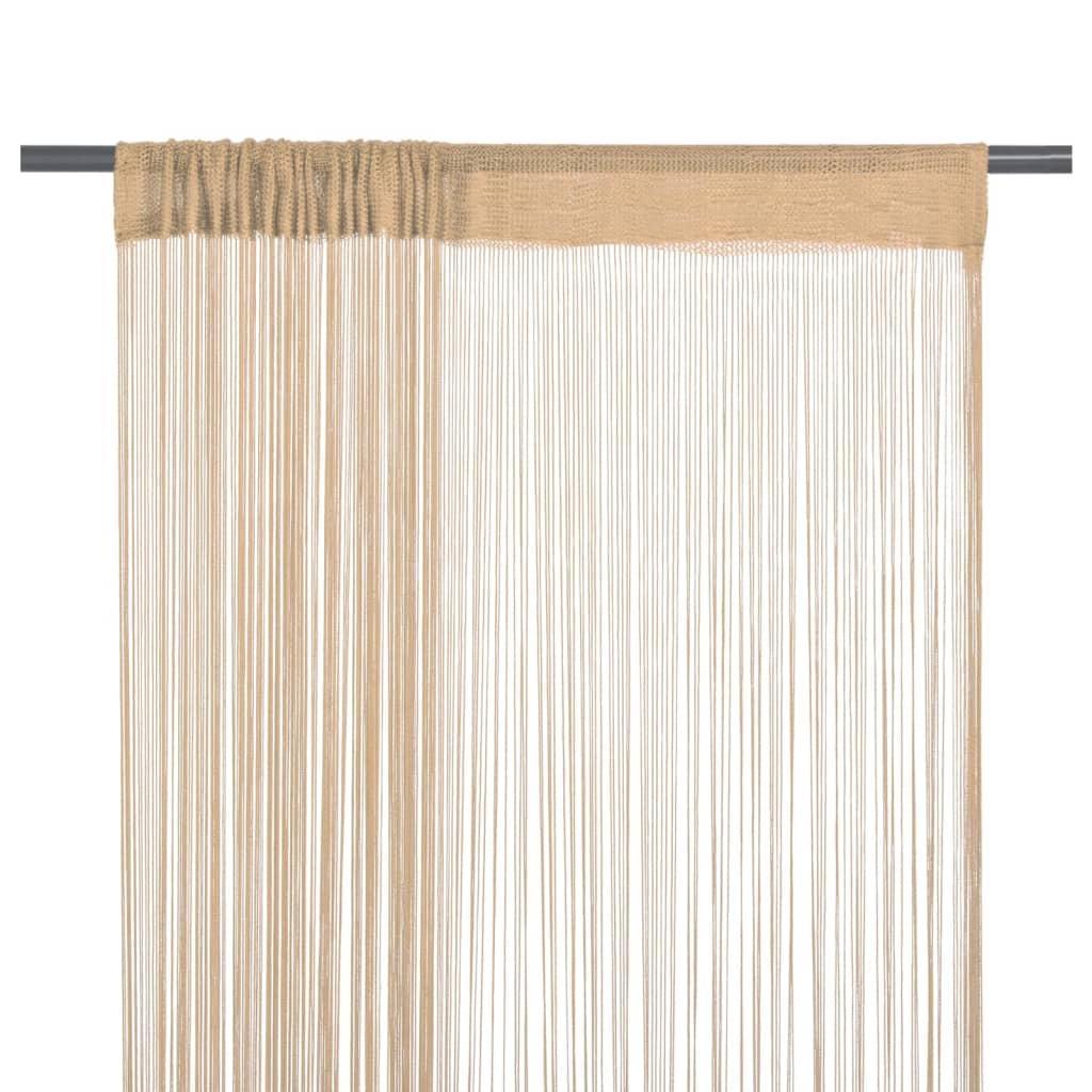 Afbeelding van vidaXL Draadgordijnen 100x250 cm beige 2 st