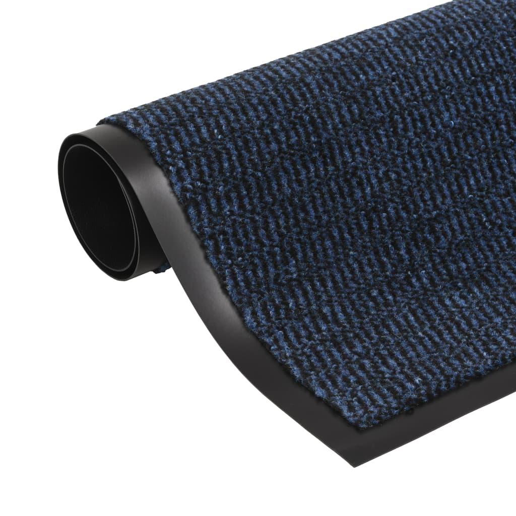 vidaXL Schmutzfangmatte Rechteckig Getuftet 60 x 90 cm Blau