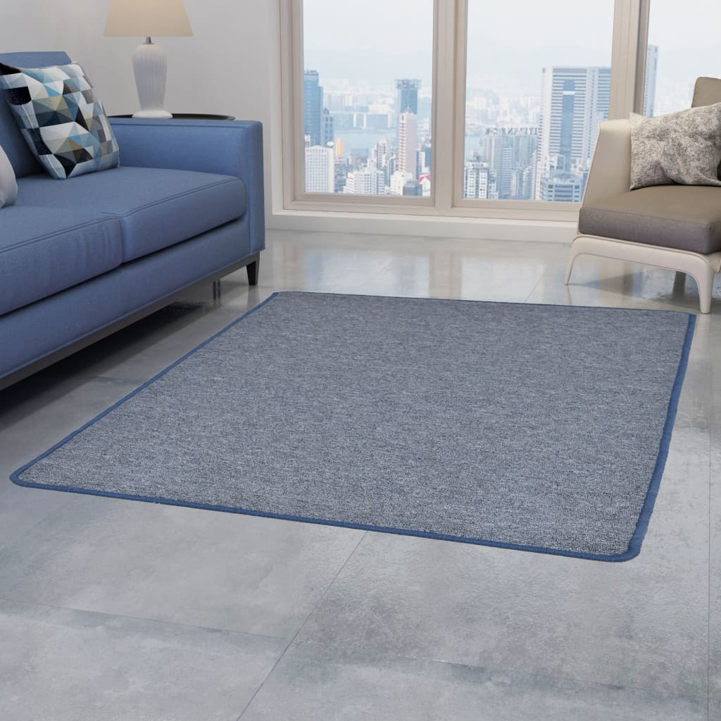 vidaXL Teppich Getuftet 160 x 230 cm Blau