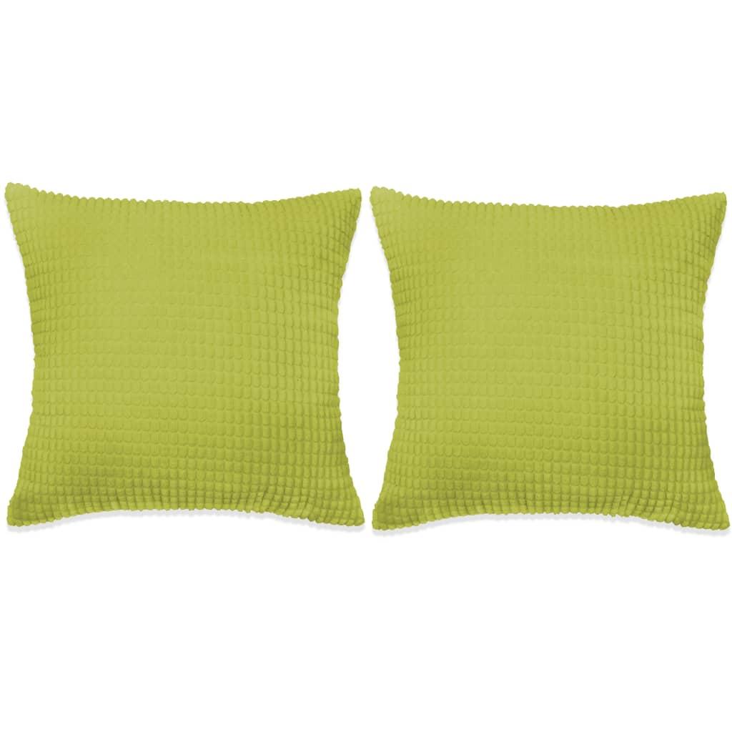 vidaXL 2 db velúr párna 60 x cm zöld