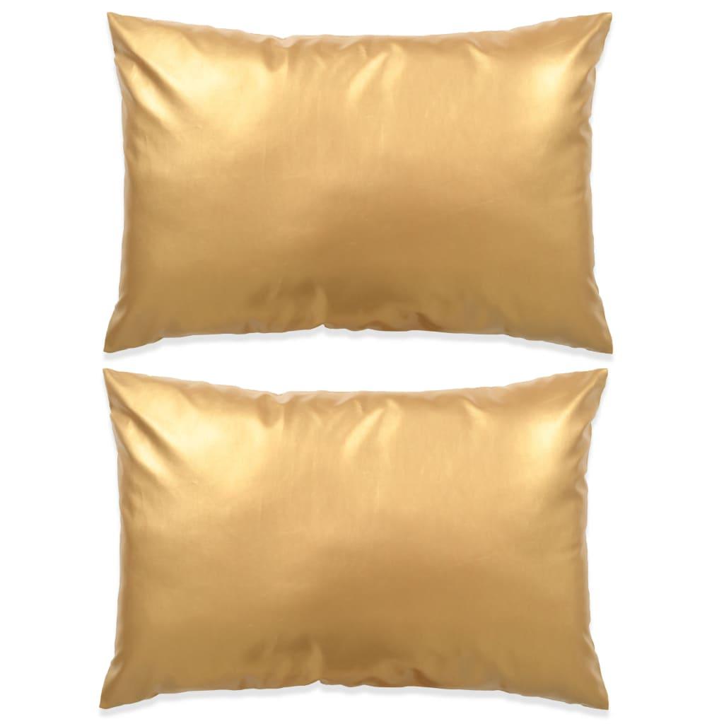 vidaXL 2 db poliuretán párna 40 x 60 cm aranyszínű