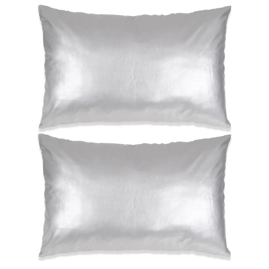 vidaXL 2 db poliuretán párna 40 x 60 cm ezüstszínű