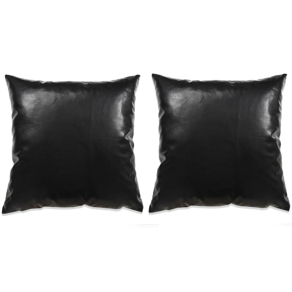 vidaXL 2 db poliuretán párna 45 x cm fekete