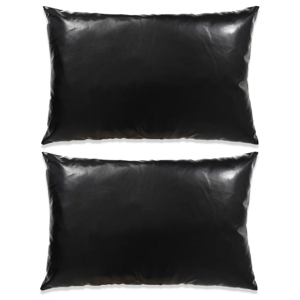 vidaXL 2 db poliuretán párna 40 x 60 cm fekete