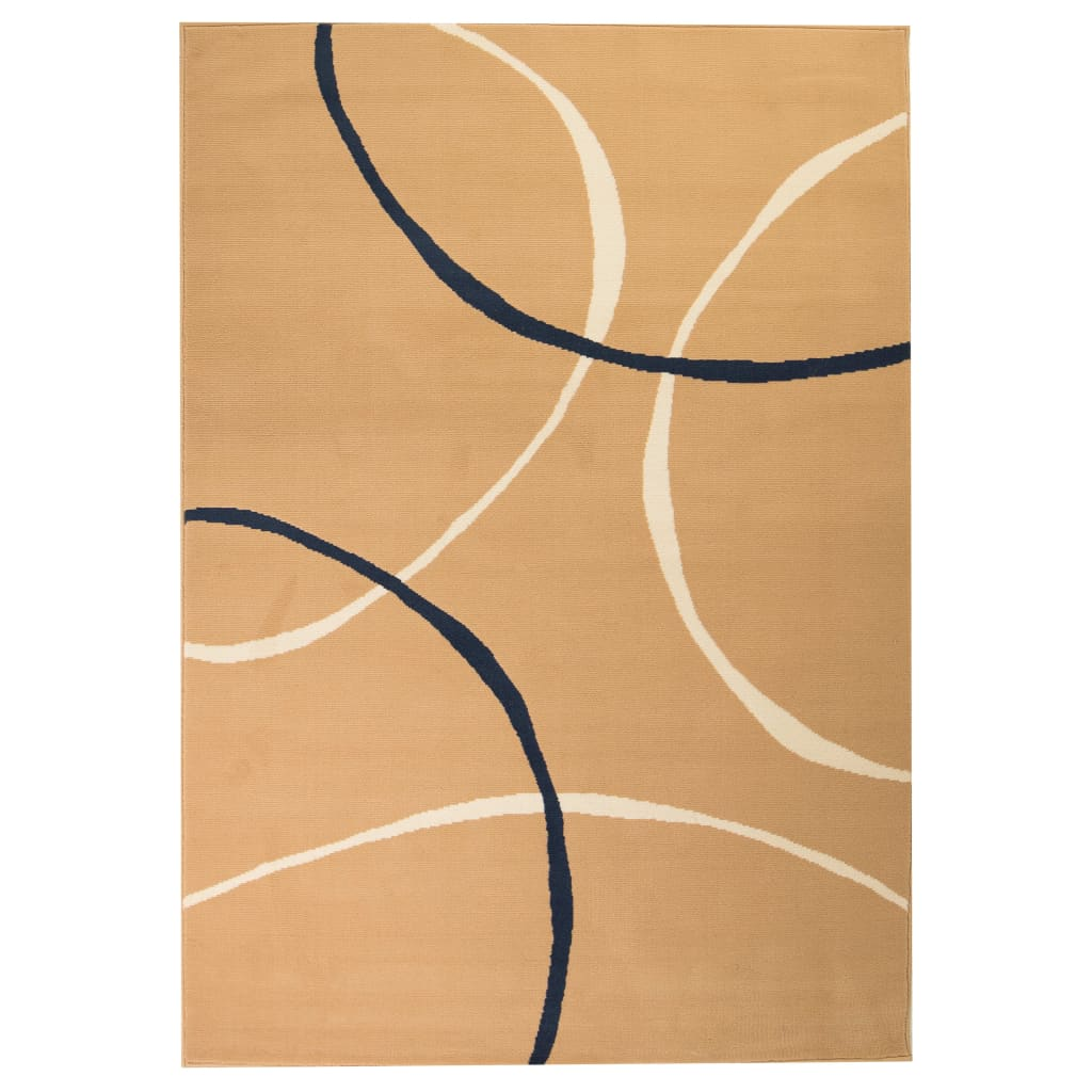vidaXL Teppich Modern Kreise 160 x 230 cm Braun