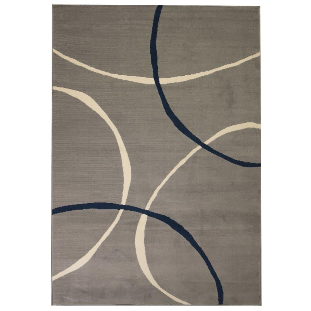 vidaXL Teppich Modern Kreise 80 x 150 cm Grau