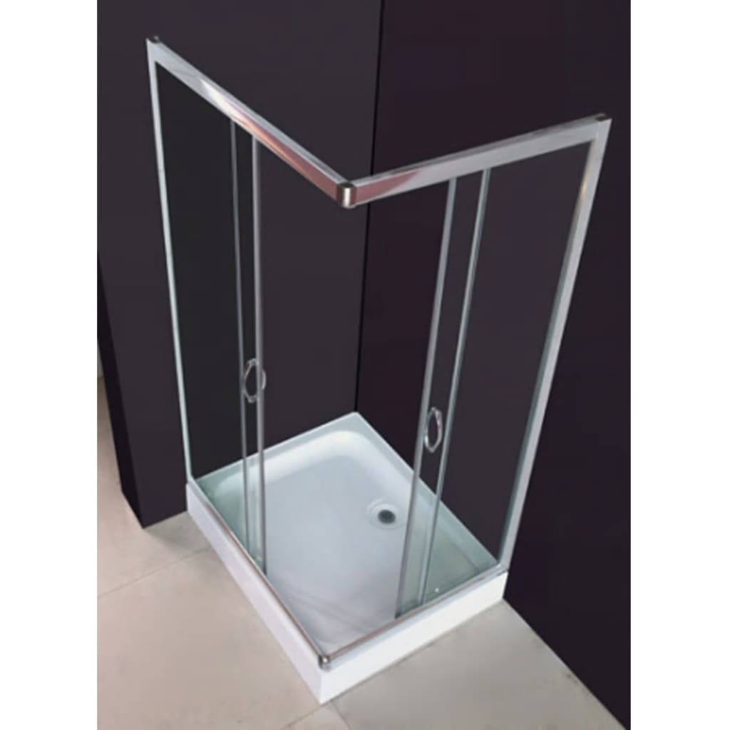 rectangular shower enclosure 100 x 80 cm. Black Bedroom Furniture Sets. Home Design Ideas