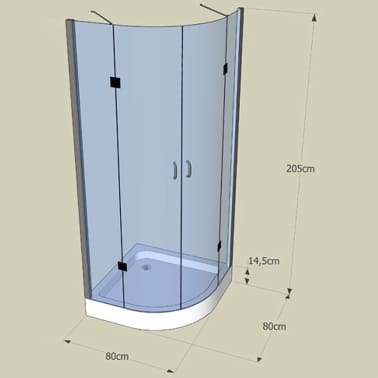 Corner Shower Enclosure 80 X 80 Cm Www Vidaxl Com Au