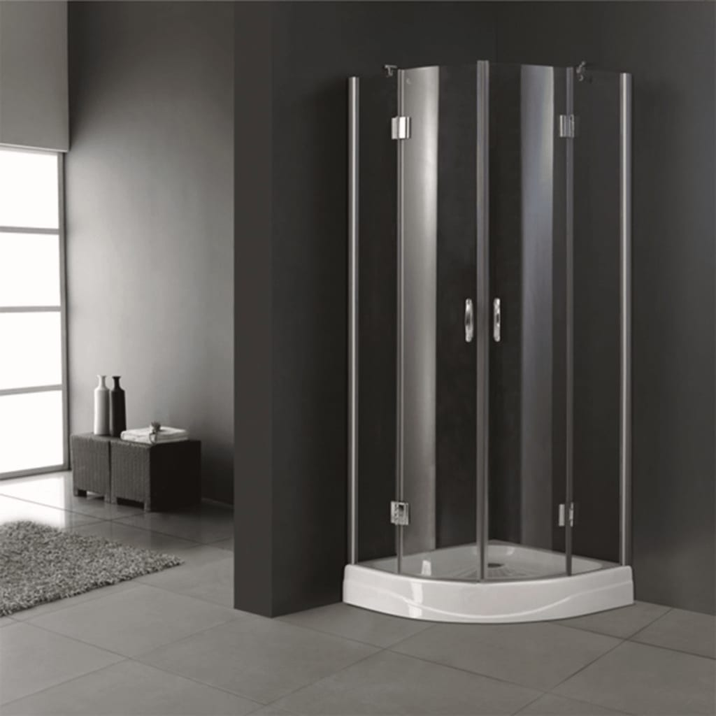 Curved/Square Shower Cabin Enclosure Cubicle Quadrant Bathroom Glass ...