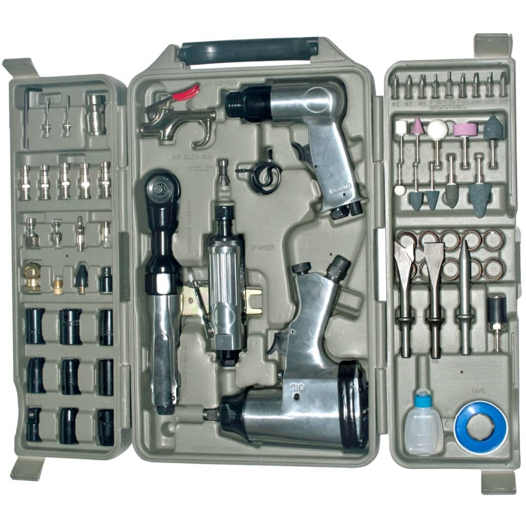 vidaXL Air Impact Tool Set 71-Piece
