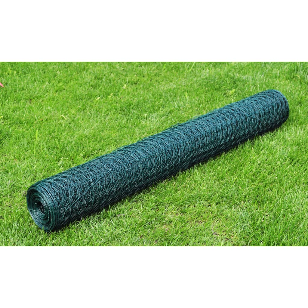 1x25m Chicken Wire Pet Mesh Fence Fencing Coop Aviary Galvanised 6 ...