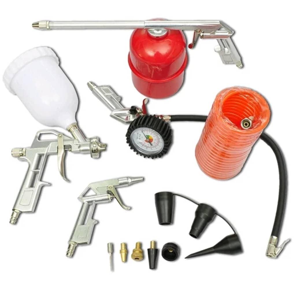 Air tool set kit spray paint gun for compressor - Exterior paint sprayers set ...
