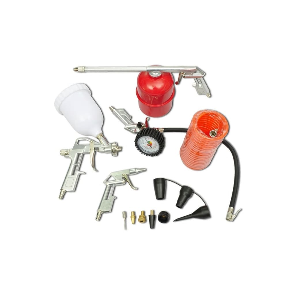 vidaXL Air Tool Set Kit Spray Paint Gun for Compressor