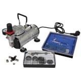 vidaXL Airbrush compressor + set met 2 spuitpistolen