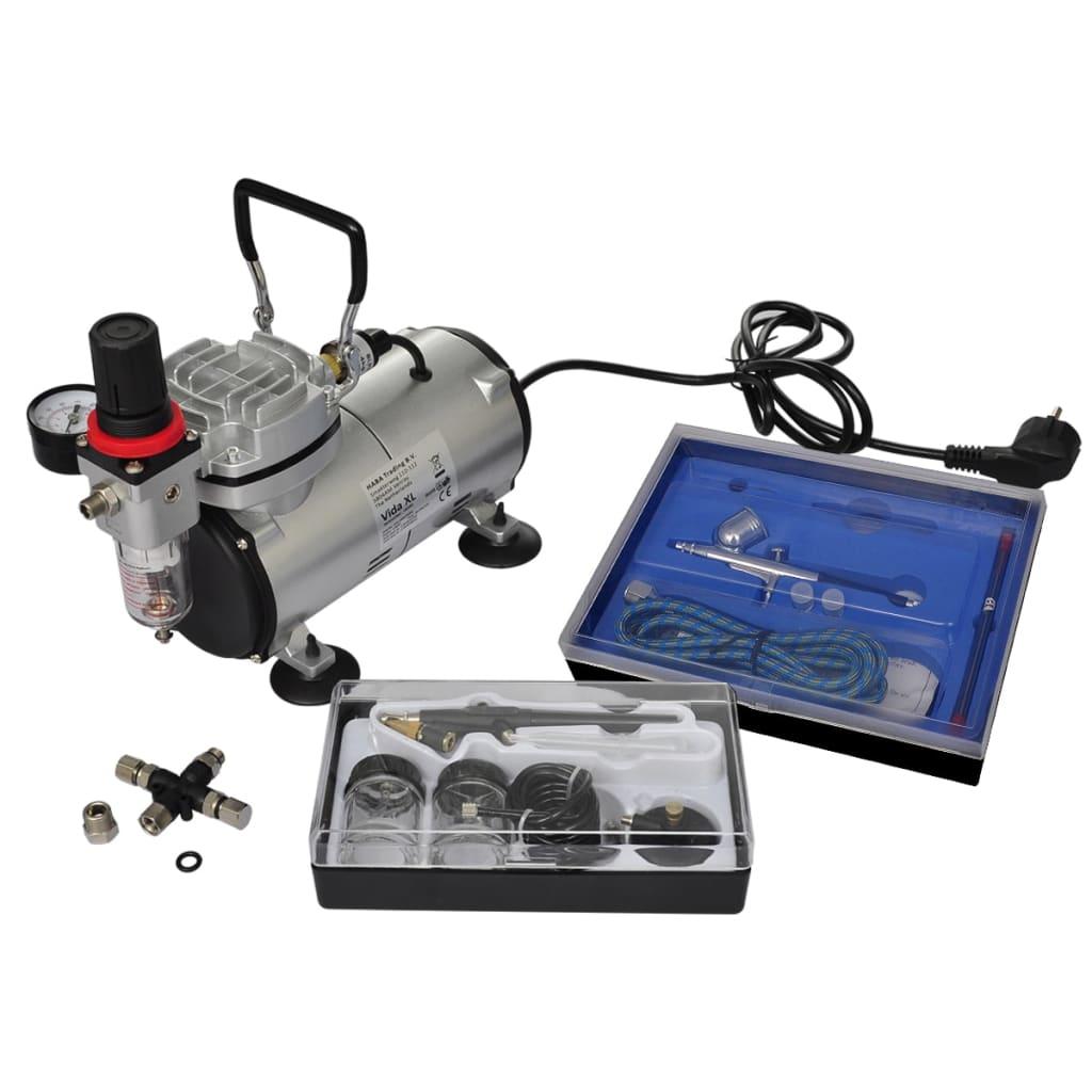 Minikompressor Airbrush inkl. 2 sprutpistoler