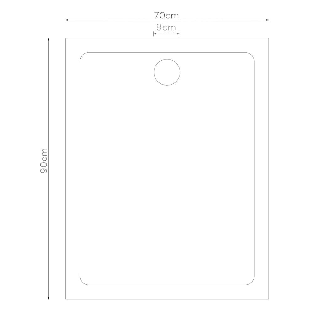 la boutique en ligne receveur de douche rectangulaire 70 x. Black Bedroom Furniture Sets. Home Design Ideas