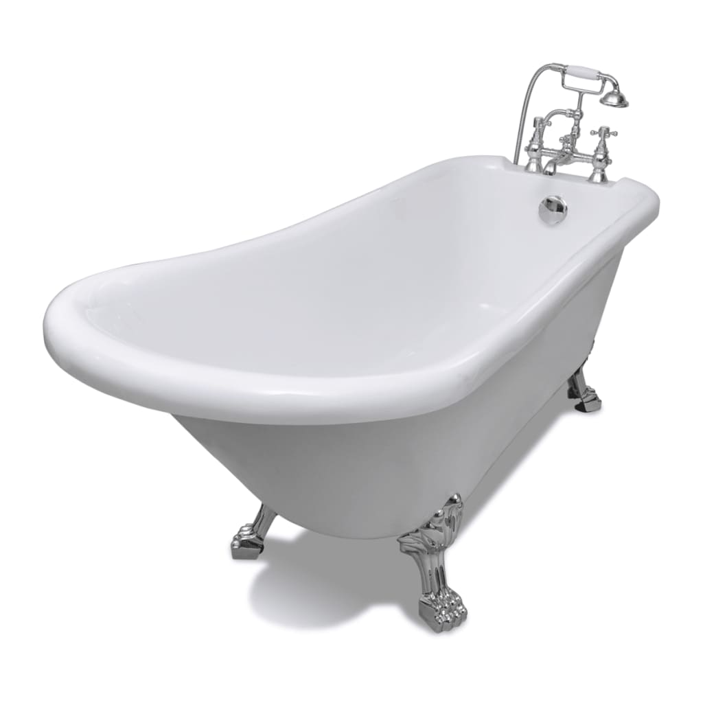 Freestanding Classic Bathtub With Faucet